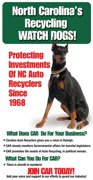 Join Carolina Auto Recyclers Association banner