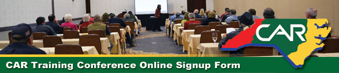 Carolina Auto Recyclers Association Training class Sign-up Form